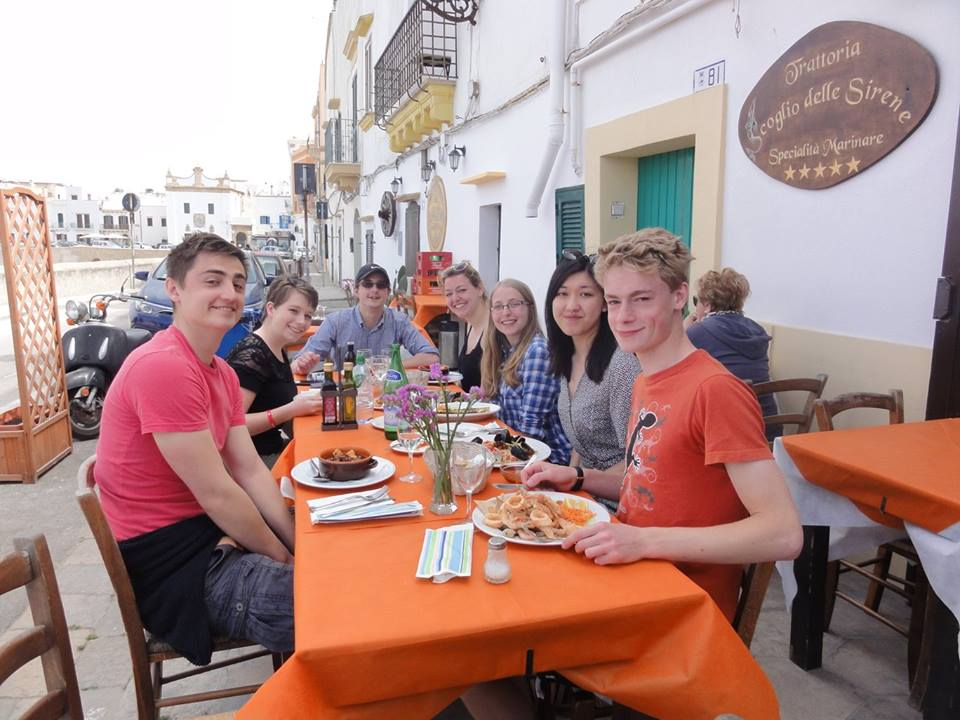 Meal out in the old town in Gallipolli. Credit: Durhamstrang.