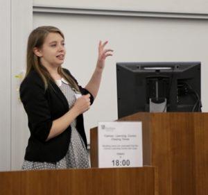 Rebecca presenting2