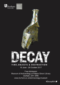 MA Student exhibtion Decay poster