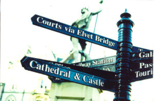 Tour of Durham Signpost