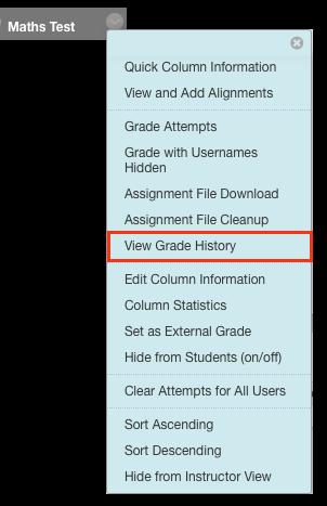 view grade history