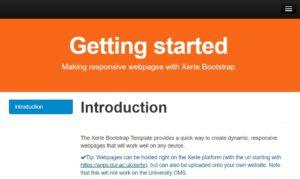 Xerte webpage guide