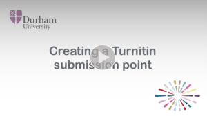 Creating a Turnitin submission point video