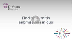 Finding Turnitin submissions video