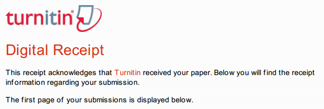 turnitin email receipt issue digital learning teaching