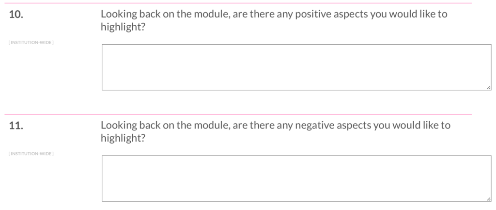 Two reflective questions