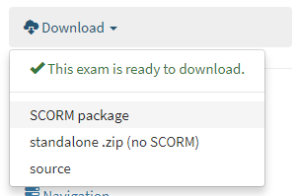 Numbas download exam package