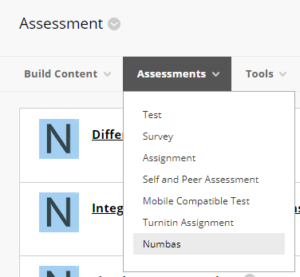 Link to create a Numbas test in duo