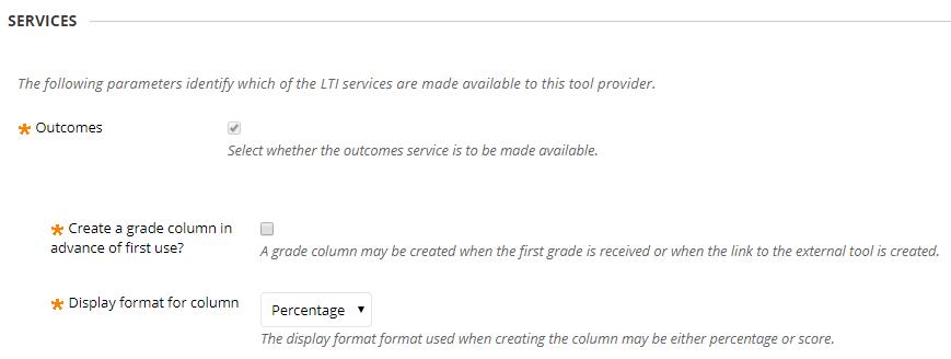 Numbas tool information settings
