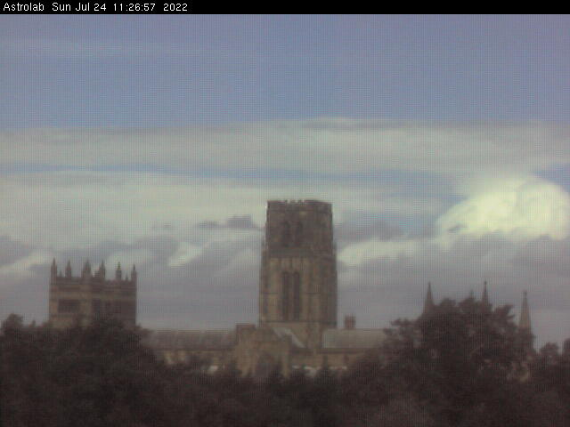 Live image of Durham Cathedral from the Astrolab Webcam.