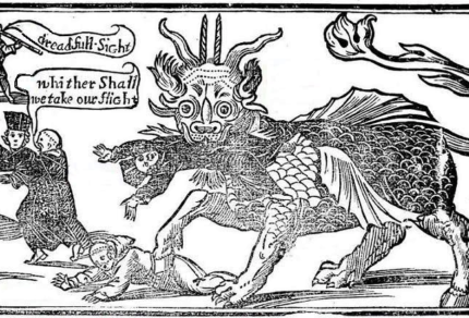Woodcut of a dragon