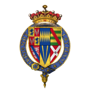 https://commons.wikimedia.org/wiki/File:Quartered_arms_of_Sir_Henry_Percy,_9th_Earl_of_Northumberland,_KG.png