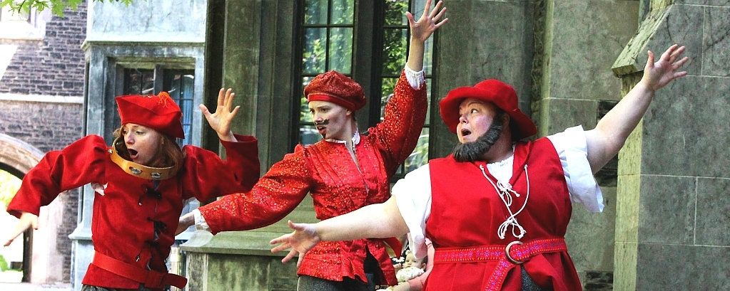 How did medieval drama express a sense of community?