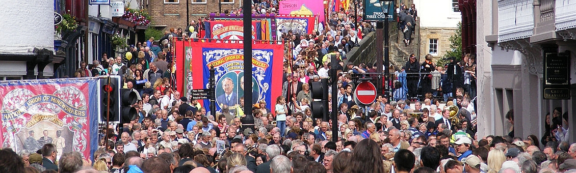 Durham Miner's Gala, by paul-simpson.org [CC BY 2.0], via Wikimedia Commons