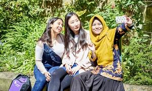 International students selfie